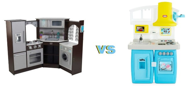 Wooden toy kitchens versus plastic toy kitchens. Which is the best? Toy Famous goes around and concludes that both offers great benefits to kids at any age.
